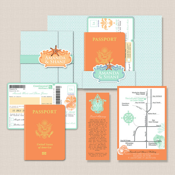 Passport Destination Wedding Invitations Destination Weddings Blog