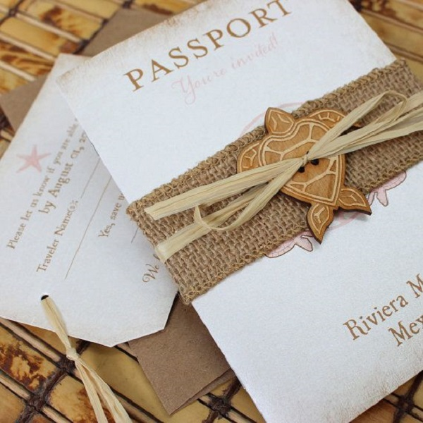 Unique of the Week Creative Destination Wedding Invitations