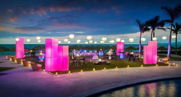 Hard Rock Hotel Vallarta Splash Terrace Party Setup