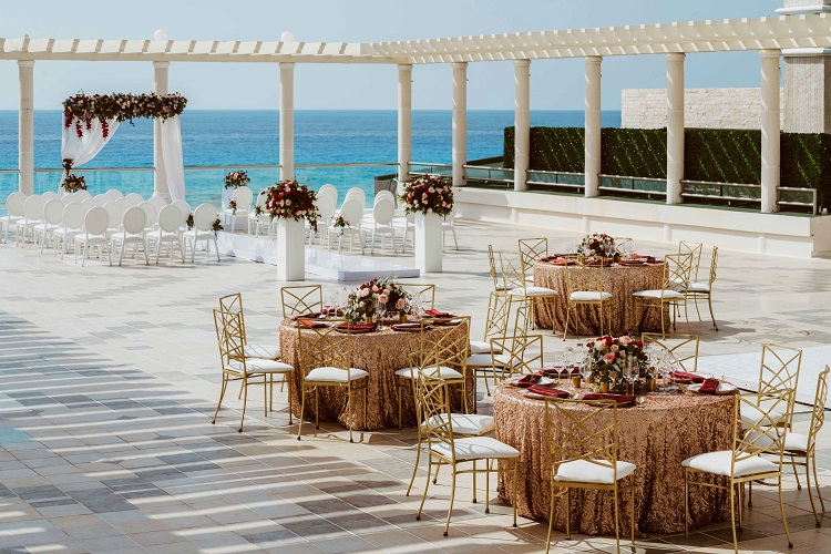 rooftop wedding ceremony and reception