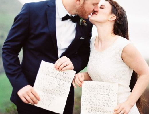 Writing your own destination wedding vows.
