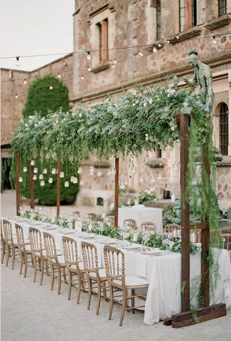 Summer destination wedding trends - floral installment