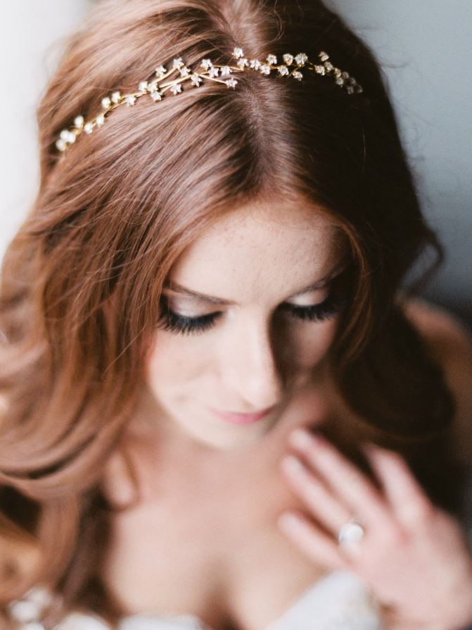 Summer destination wedding trends - starry headband