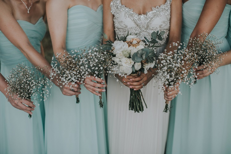 bridesmaids ideas for winter destination wedding