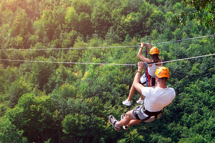 jamaica honeymoon activities | ziplining