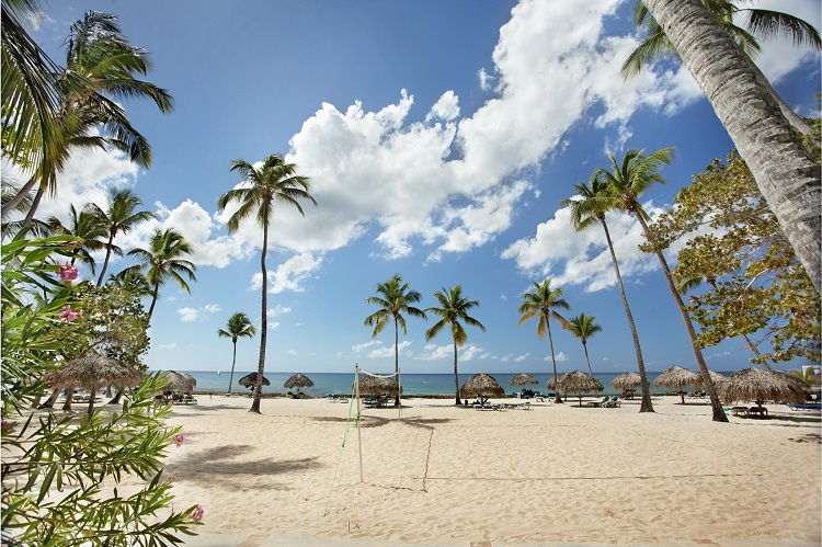 Beach volleyball at Viva Wyndham Dominicus Beach in the Dominican Republic