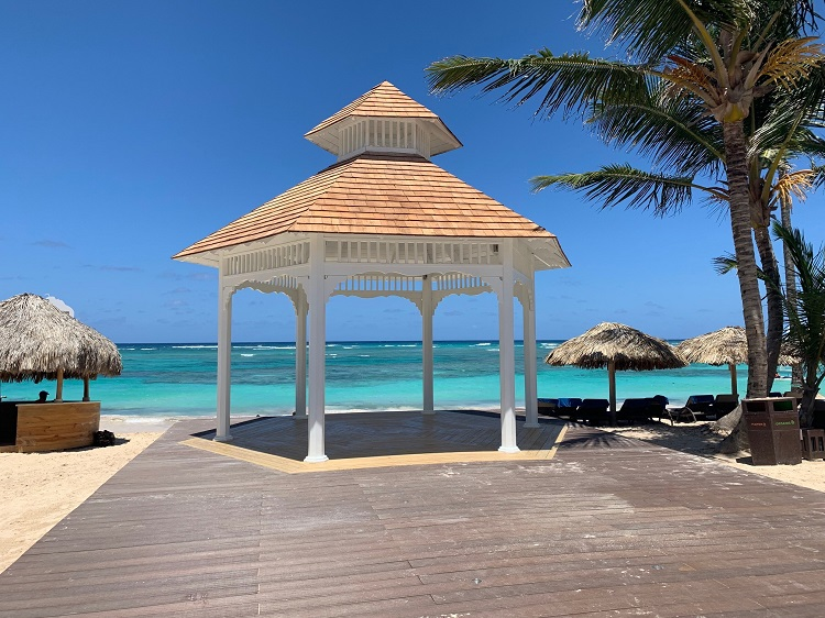 Wedding gazebo at Royalton Bavaro in the Dominican Republic