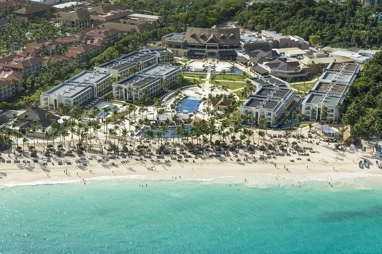Aerial view of Royalton Punta Cana in the Dominican Republic