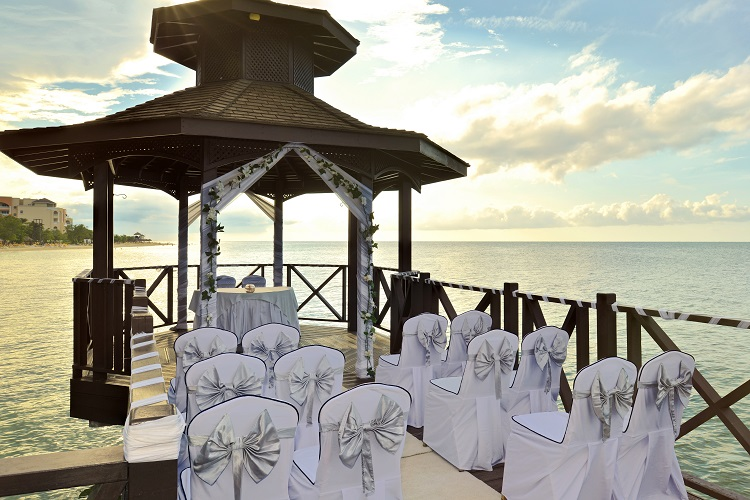 Wedding ceremony at Iberostar Rose Hall Beach in Jamaica
