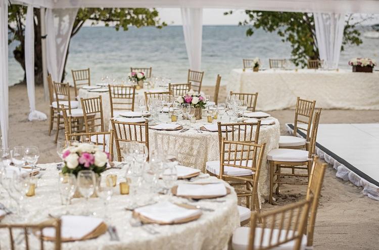 Wedding reception at Iberostar Rose Hall Beach in Jamaica