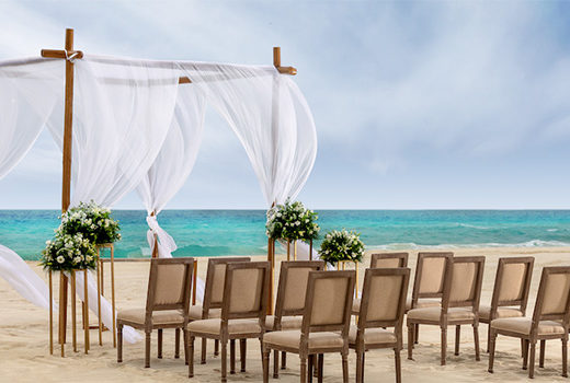 Le Blanc Spa Resort Destination Wedding Setup