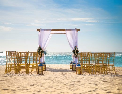 Beach wedding in Aruba
