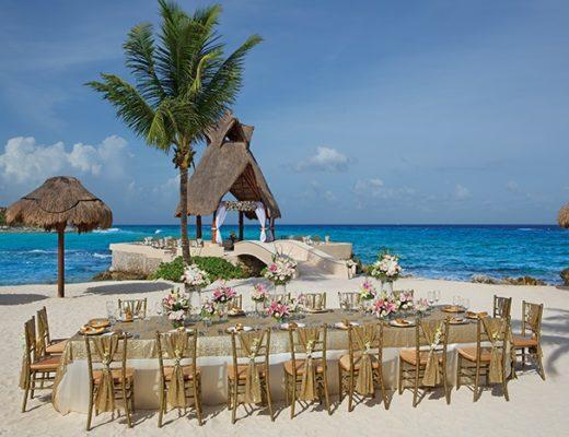 Destination wedding setup in Mexico