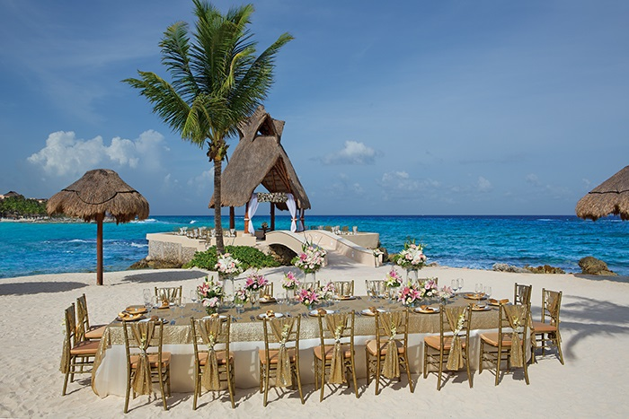 Destination wedding setup in Mexico