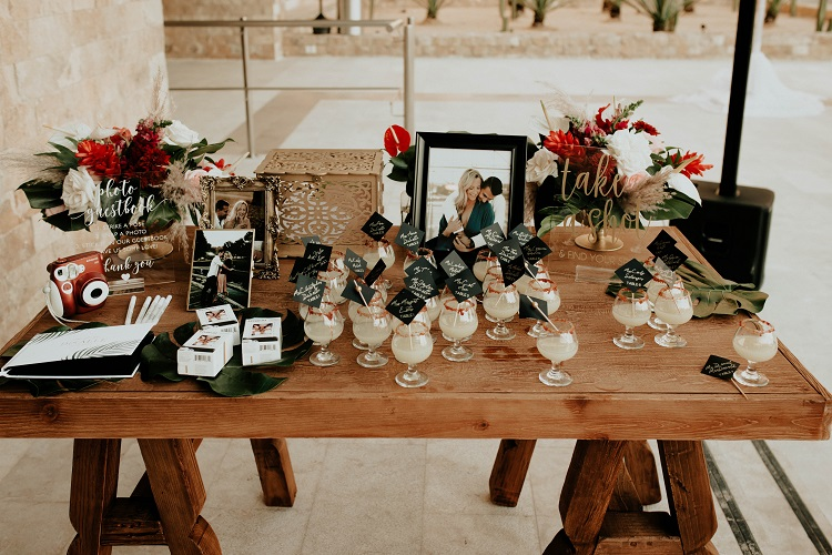 destination wedding reception table