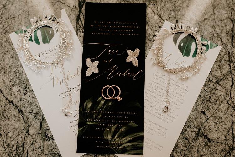 destination wedding invitation and stationary